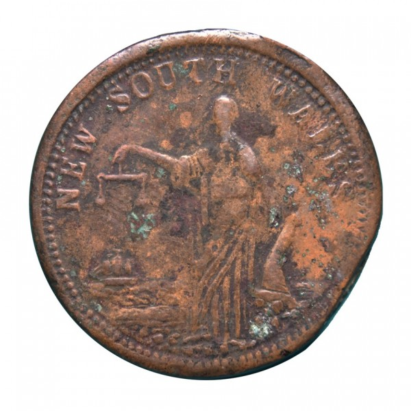AYSTRALIA  NEW SOUTH WALES  Penny Token (1852-1868), KM# Tn286.2 WORLD COINS