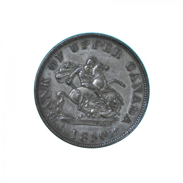 CANADA - UPPER CANADA - 1850  1/2 Penny, XF WORLD COINS