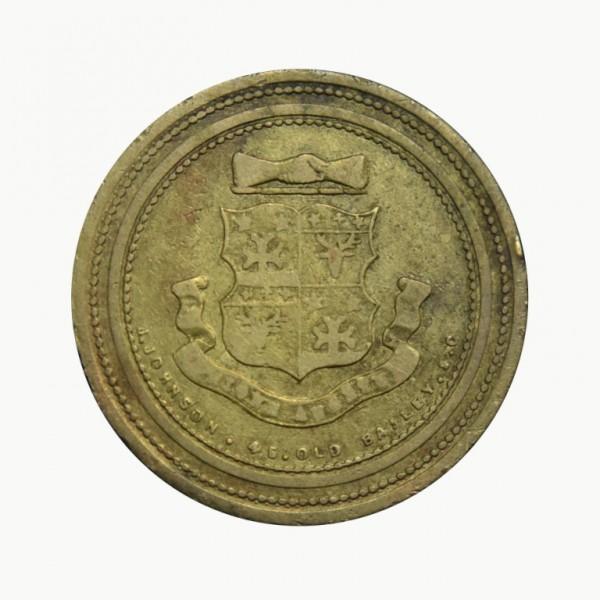 GREAT BRITAIN,  J.C. Miller, 1 Shilling, Billingsgate Fishmarket,  TOKENS - JETONS