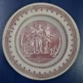 Ariadne-Erato-Melpomeni. Pink deep plate. COLLECTIBLES